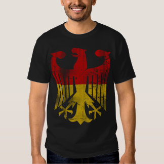 Vintage German Flag of Germany Eagle Fade T-Shirt