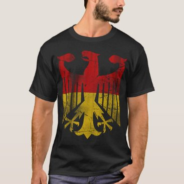 clonecire Vintage German Flag of Germany Eagle Fade T-Shirt