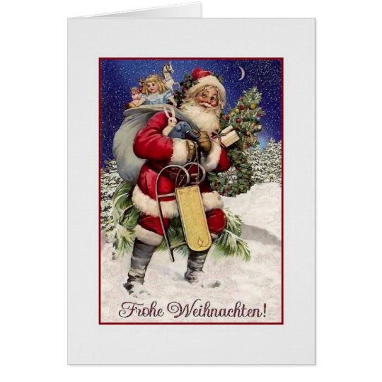 vintage german frohe weihnachten christmas card. Black Bedroom Furniture Sets. Home Design Ideas