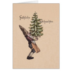 Vintage German Gnome Christmas Card at Zazzle