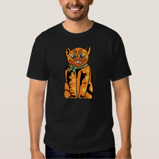 Vintage German Halloween Cat T Shirt