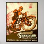 Vintage German Motorcycle Ad Posters