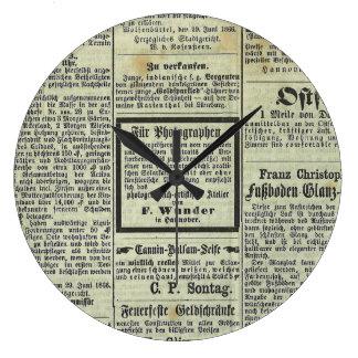 Vintage German newspaper clock