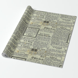 Vintage German newspaper gift paper Wrapping Paper
