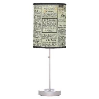 Vintage German newspaper lamp