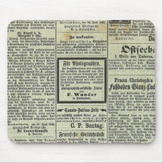 Vintage German newspaper mousepad