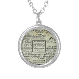 Vintage German newspaper pendant