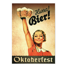 Vintage German Oktoberfest Custom Invitation at Zazzle
