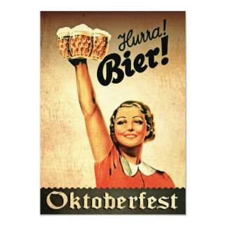 Vintage German Oktoberfest Custom Invitation