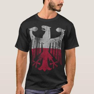 Vintage German Polish Family Heritage Eagle Flag T-Shirt