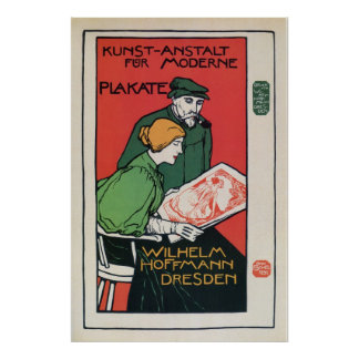 Vintage German poster printers advertisement