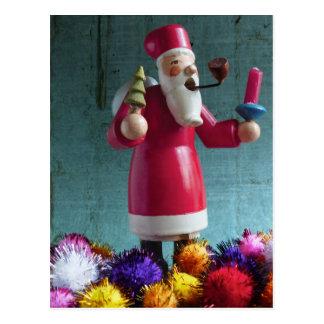 Vintage German Rauchermaennchen Santa Claus Postcard
