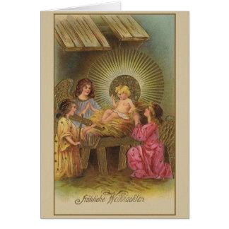 Vintage German Religious Christmas Card