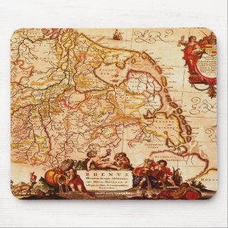 Vintage German Rhinelands Map Art Collection Mouse Pad
