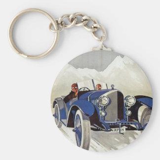 Vintage German Road Race Ad Keychain
