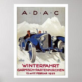 Vintage German Road Race Ad Poster