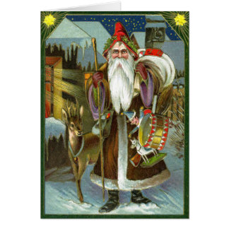 Vintage German Santa Card
