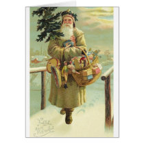 Vintage German Santa Christmas Card