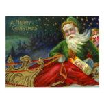 Vintage German Santa Claus Post Card