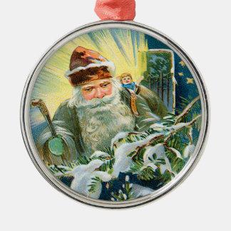 Vintage German Santa Ornament