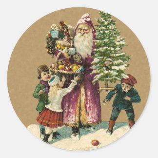 Vintage German Santa sticker