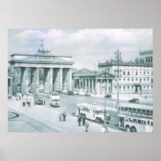 Vintage Germany, Berlin, Brandenburg Gate Poster