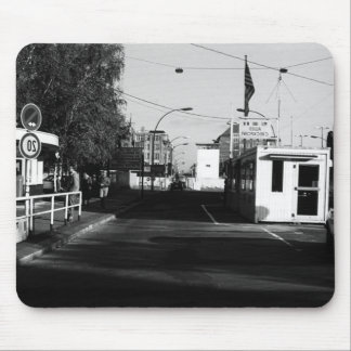 Vintage Germany Border posts East West Berlin 1970 Mouse Pad
