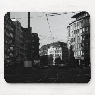 Vintage Germany Frankfurt City street 1970 Mouse Pad
