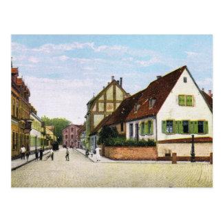Vintage Germany, Germersheim Fischerstrasse Postcard