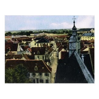 Vintage Germany, Germersheim,  Roofs of town Postcard