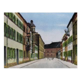 Vintage Germany, Germersheim Schillerstrasse Postcard