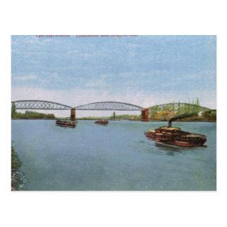 Vintage Germany, Germersheim,  Steamer Postcard