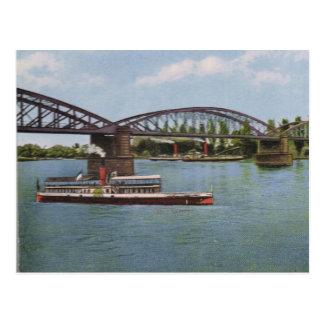 Vintage Germany, Germersheim,  Tourist steamer Postcard