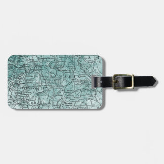 Vintage Germany Map Bavaria Region Travel Luggage Tag