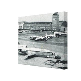 Vintage Germany, Munich airport 1950s Canvas Print