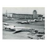 Vintage Germany, Munich airport 1950s Postcard
