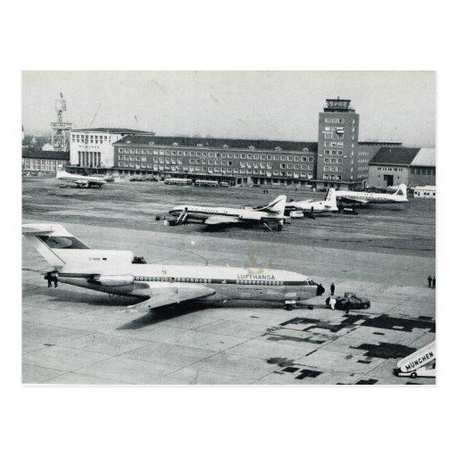vintage germany munich airport 1950s postcard zazzle. Black Bedroom Furniture Sets. Home Design Ideas