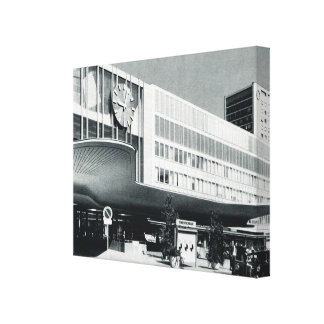 Vintage Germany, Munich, Airport terminal building Canvas Print