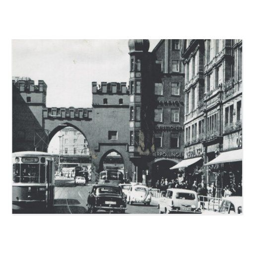Vintage Germany, Munich, City trams and gateway Post Cards
