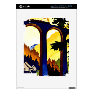 Vintage Germany Railways Travel Poster iPad 3 Decal