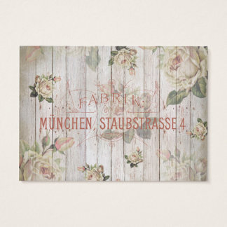 vintage,germany,roses,typography,shabbychic,rose, business card