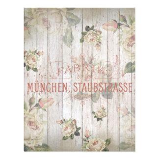 vintage,germany,roses,typography,shabbychic,rose, flyer