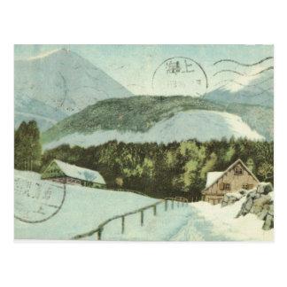Vintage  Germany, Ski resort, 1926 Postcard