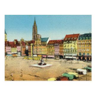 Vintage Germany, Strassburg, KleberPlatz Postcard