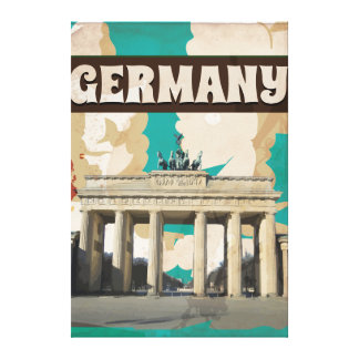 VINTAGE GERMANY TRAVEL POSTER CANVAS PRINT