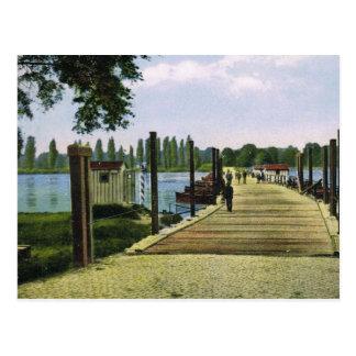 Vintage Germersheim, Germany, Schiff Bridge Postcard