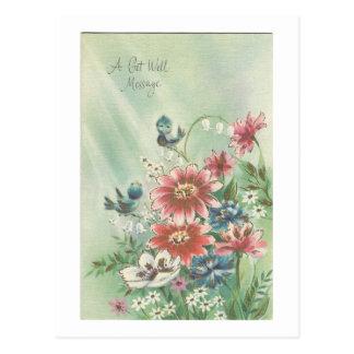 Vintage Get Well Bird Card