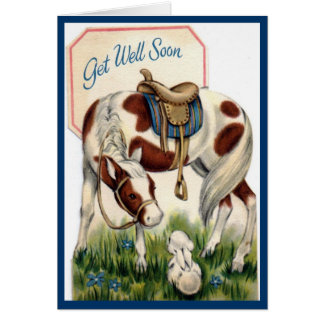 Vintage - Get Well Card