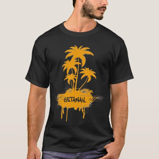 Vintage Getaway Vacation Shirt With Palm Trees