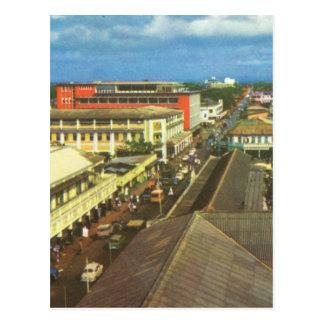 Vintage Ghana, Accra, centro de la reproducción de Tarjeta Postal